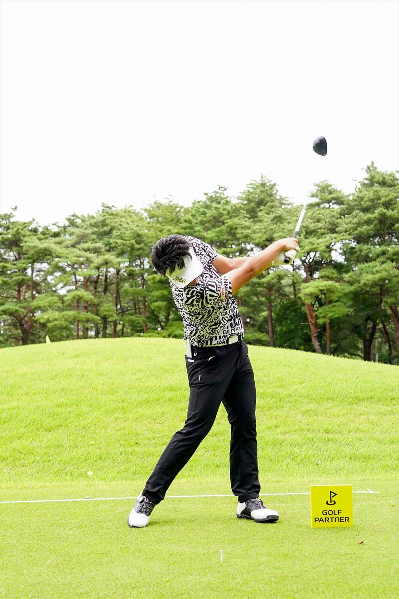 Images : 10番目の画像 - 関藤直煕 ドライバー正面連続写真 - みんなのゴルフダイジェスト