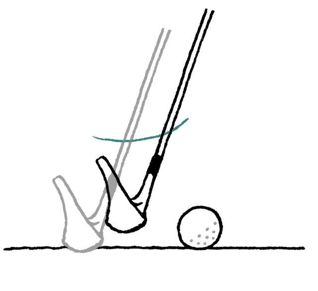 画像: バックスウィングで砂に触れたら、違反となり2打罰