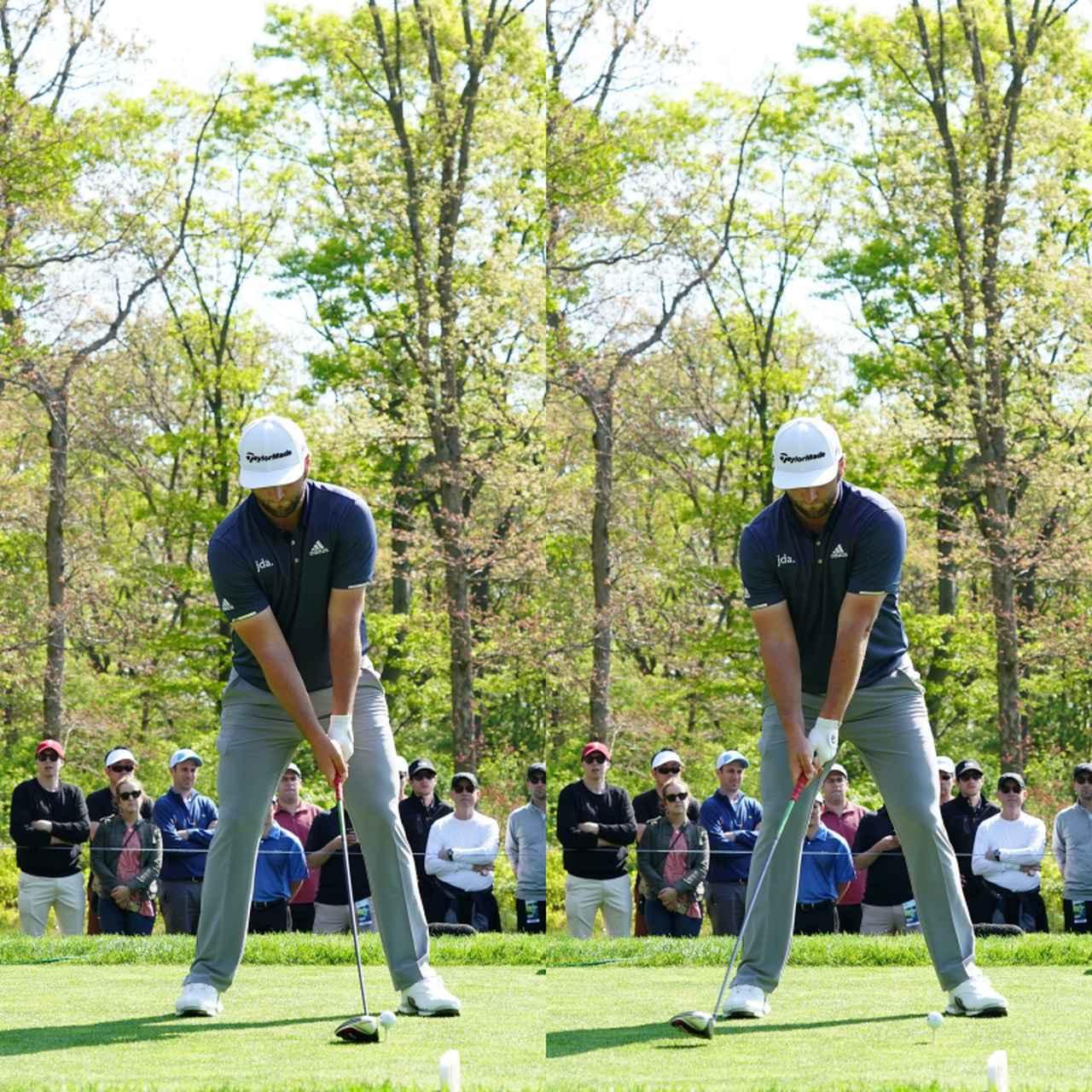 画像: 写真A:左手はウィーク、右手はスクェアに握るグリップでフェースをボールに向けたまま始動する(写真は2019年の「全米プロゴルフ選手権」写真/姉崎正)