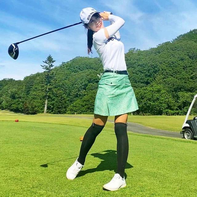 画像: ゴルフを始めて3年目でシングルプレーヤーになった上山晴香ことはるぴょん