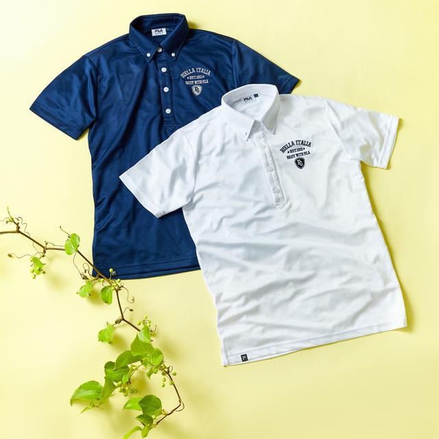画像: FILA ボタンダウンポロシャツ(吸汗速乾・UV)-ゴルフダイジェスト公式通販サイト「ゴルフポケット」