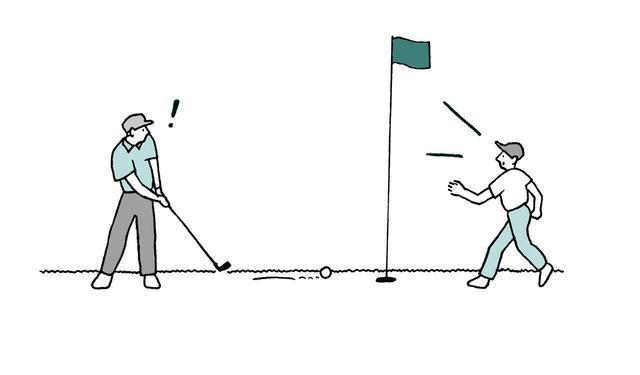 画像: 球が動いている間にピンを抜いたらペナルティ?それとも無罰?