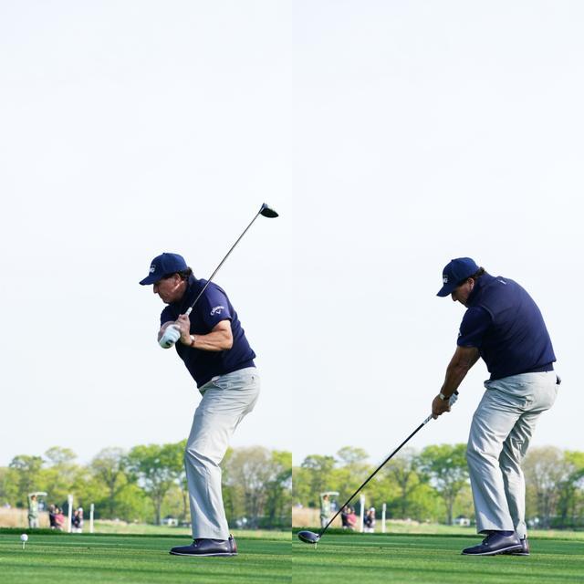 画像: 画像C 左肩と首の間からクラブが立って下りてきて、インパクトでフェースを閉じながら打つ(写真は2019年全米プロゴルフ選手権 写真/姉崎正)
