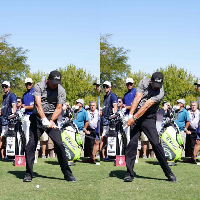 画像: 画像D 開いて下りてきたクラブフェースをインパクトでしっかり閉じながら打つことでボールをつかまえ自在に弾道を操る(写真は2019年全米プロゴルフ選手権 写真/姉崎正)