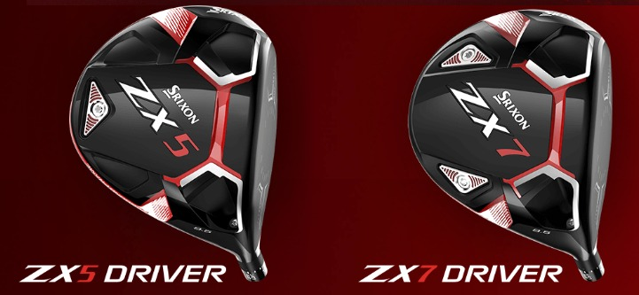 画像: スリクソンのニュードライバー「ZX5」と「ZX7」(画像はスリクソンのイギリス公式サイトのキャプチャ)