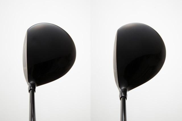 画像: 左が丸型、右が洋ナシ型のヘッド形状