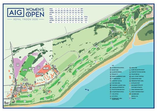 画像: 「全英女子オープン(AIGオープン)」初日のロイヤルトゥルーンGC」には右上から20メートル近い強風が吹いた(R&A)