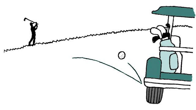 画像: Q:ストロークした球が偶然にカートに当たった場合は?