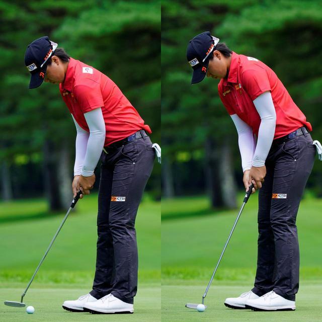 画像: 手元が低い位置を保ちながら体幹を使って安定したストロークをする(写真は2020年NEC軽井沢72ゴルフトーナメント 写真/代表撮影 鈴木祥)