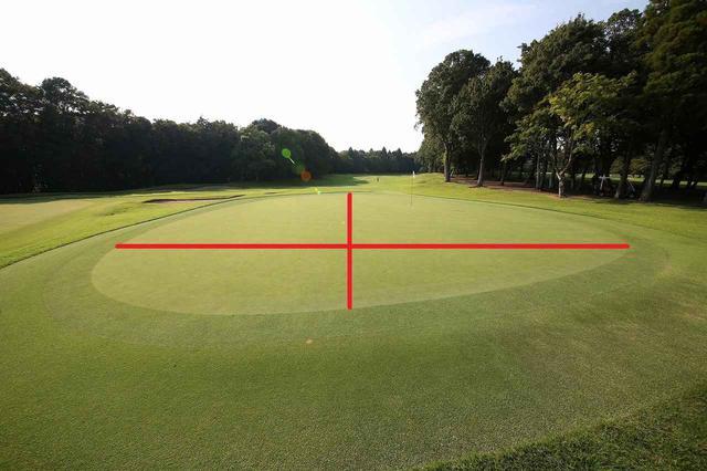 画像: 中心からグリーンを4分割しよう!
