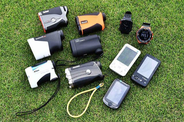 画像: 多くのゴルファーが使用している距離計測器