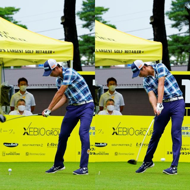 画像: 画像C:体の回転に伴ってフェースをターンさせて打つタイプのスウィング(写真は2020年ゴルフパートナーエキシビジョントーナメント 写真/岡沢裕行)
