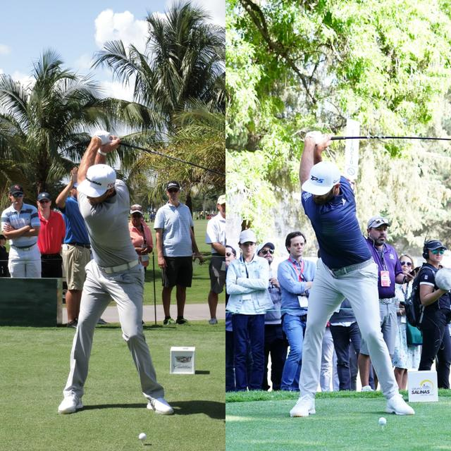 画像: 左は2015年のキャデラック選手権、右は2020年のWGCメキシコ選手権わずかにトップでのクラブの位置がコンパクトになっている(写真/姉崎正)