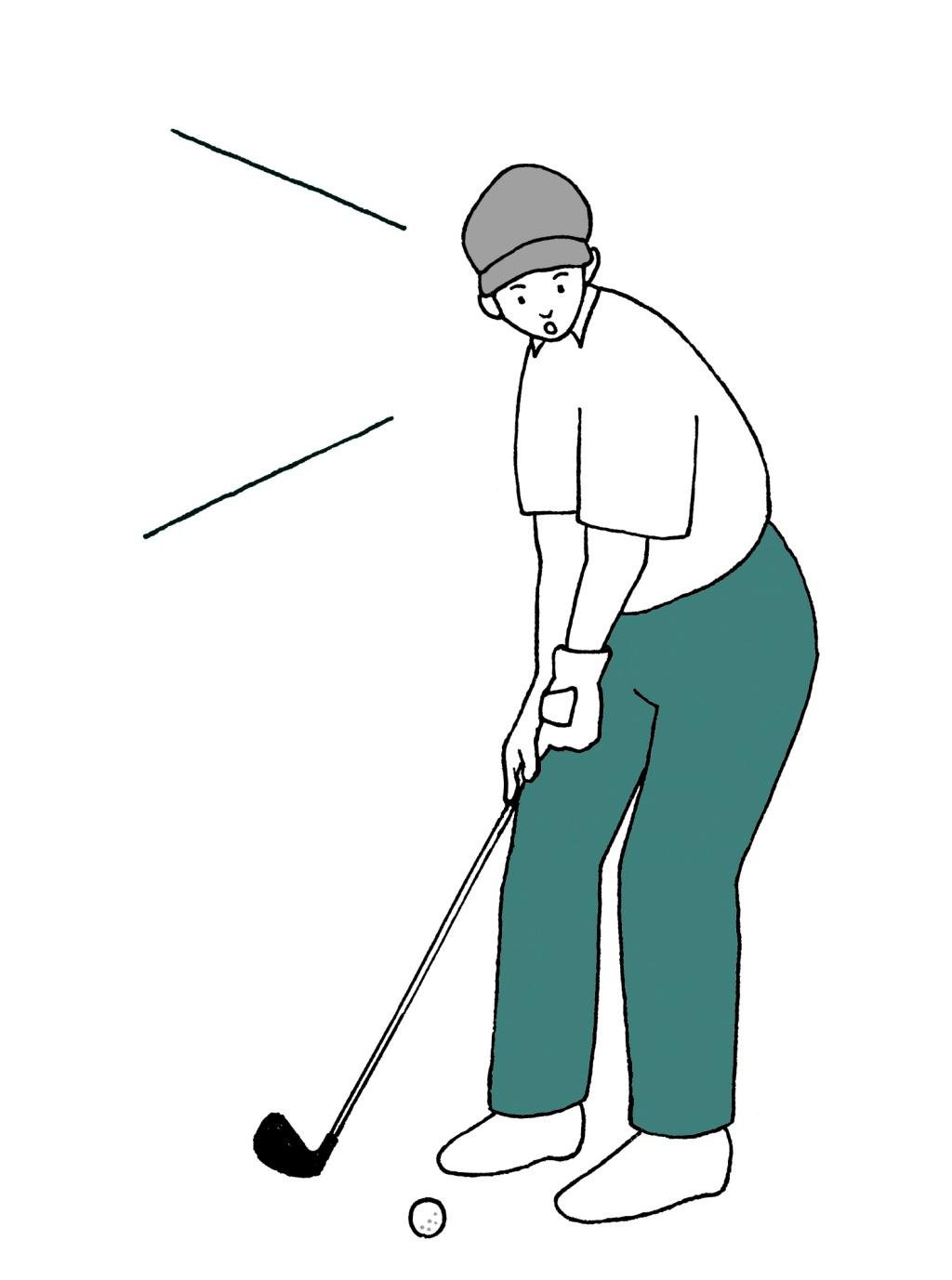 画像: 暫定球を打つことを明確に伝える必要があるため、「もう1球打ちます」ではなく「暫定球打ちます」と伝えよう