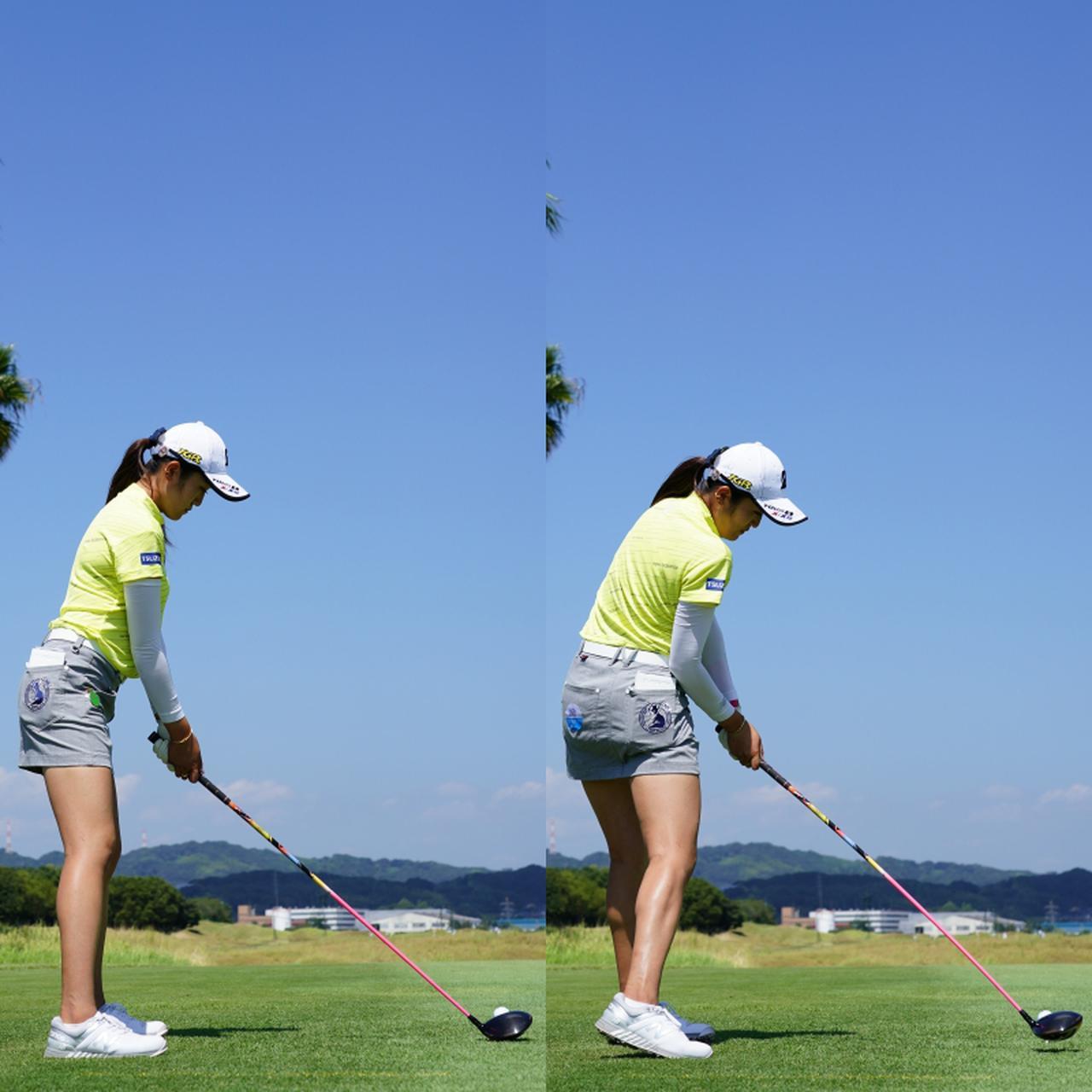 画像: 画像C アドレスとインパクトを比べるとクラブの位置の再現度に驚く(写真は2020年日本女子プロゴルフ選手権 写真/姉崎正)