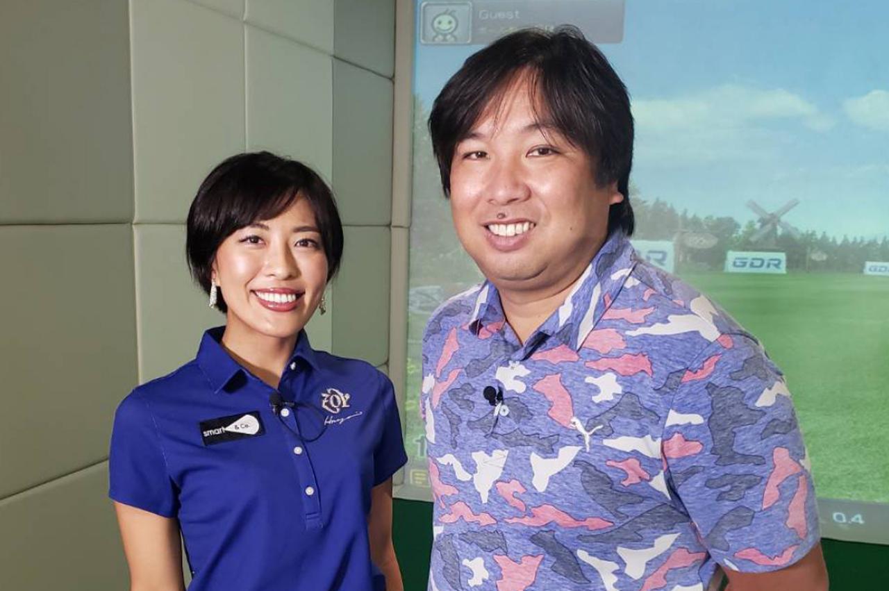 画像: 元プロ野球選手の里崎智也が美女プロ・小澤美奈瀬に弟子入り! アイアンスウィングの改善に挑む