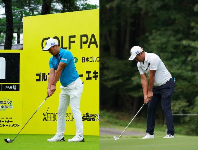 画像: 左のドライバーと右のアイアンでアドレスの構え方が全然違う!(写真左は2020年のゴルフパートナーエキシビショントーナメント 写真/岡沢裕行 写真右は2020年のフジサンケイクラシック 写真/大澤進二)