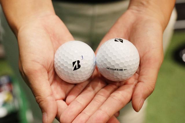 """画像: タイガーが使用する""""ツアーB XS""""がS子にとって一番飛ぶボールでした!"""