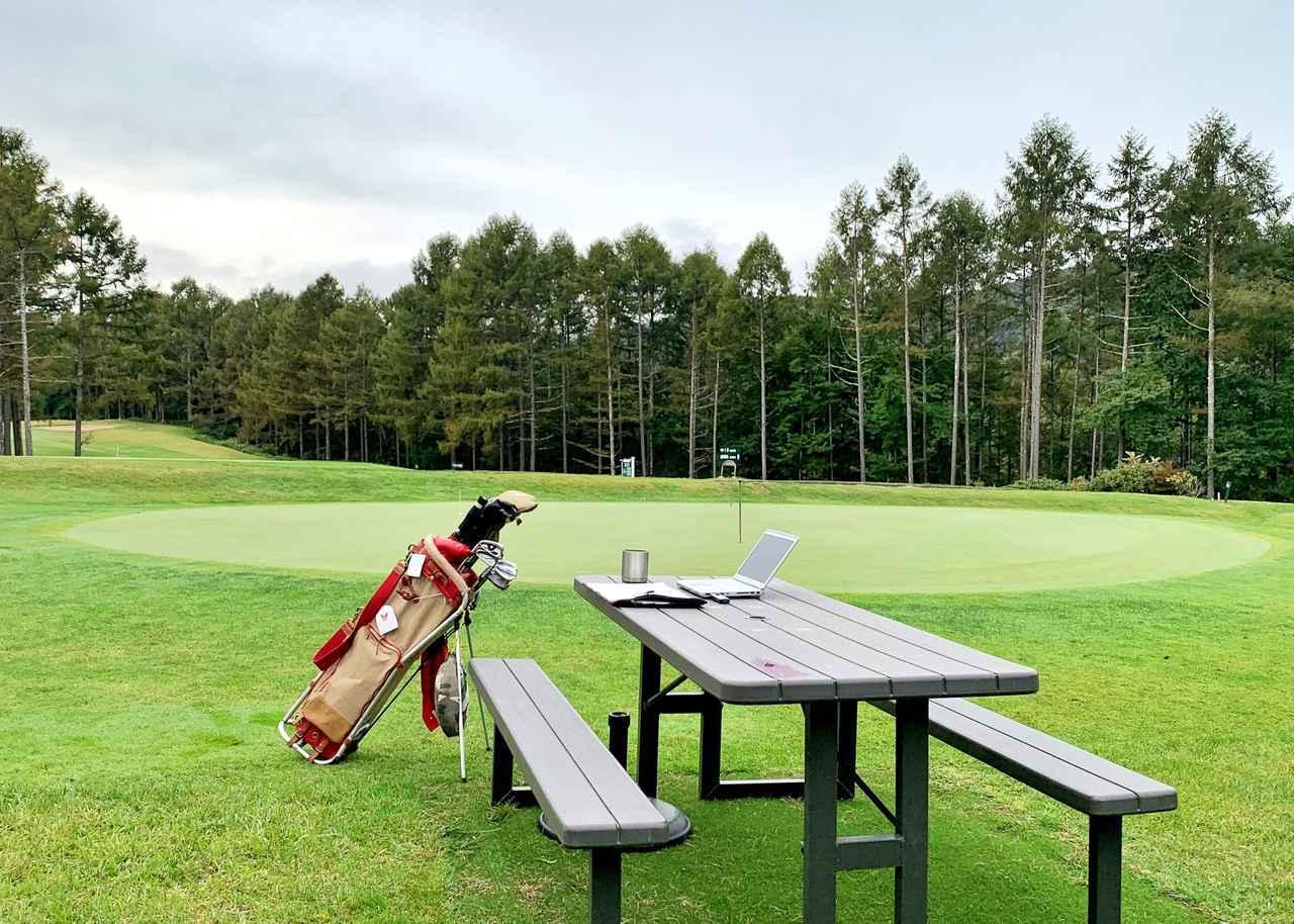 画像: リモートワークをゴルフ場でやったら仕事がはかどるのか?ゴルフに夢中になって仕事が二の次になるのか、ゴルフをやりたいから仕事を早く終わらせられるのか?実証実験の結果は、半数以上がはかどったと答えた(写真/三石茂樹)