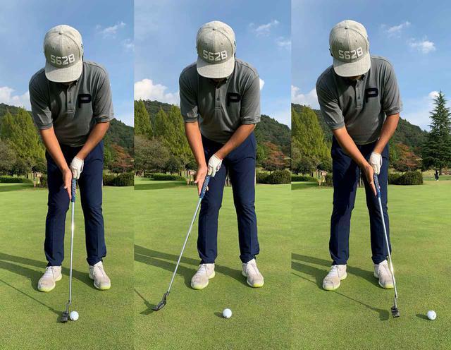 画像: 左手は軽い力でしっかりとグリップして、右手でボールを転がすようなイメージでストロークすると距離感が出しやすい気がしました