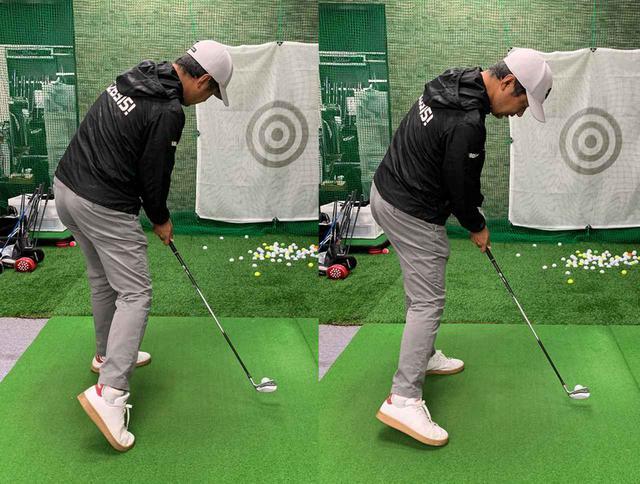画像: 右ひざが前に出てしまってはダメなので、右ひざを左ひざに寄せていくようにしましょう