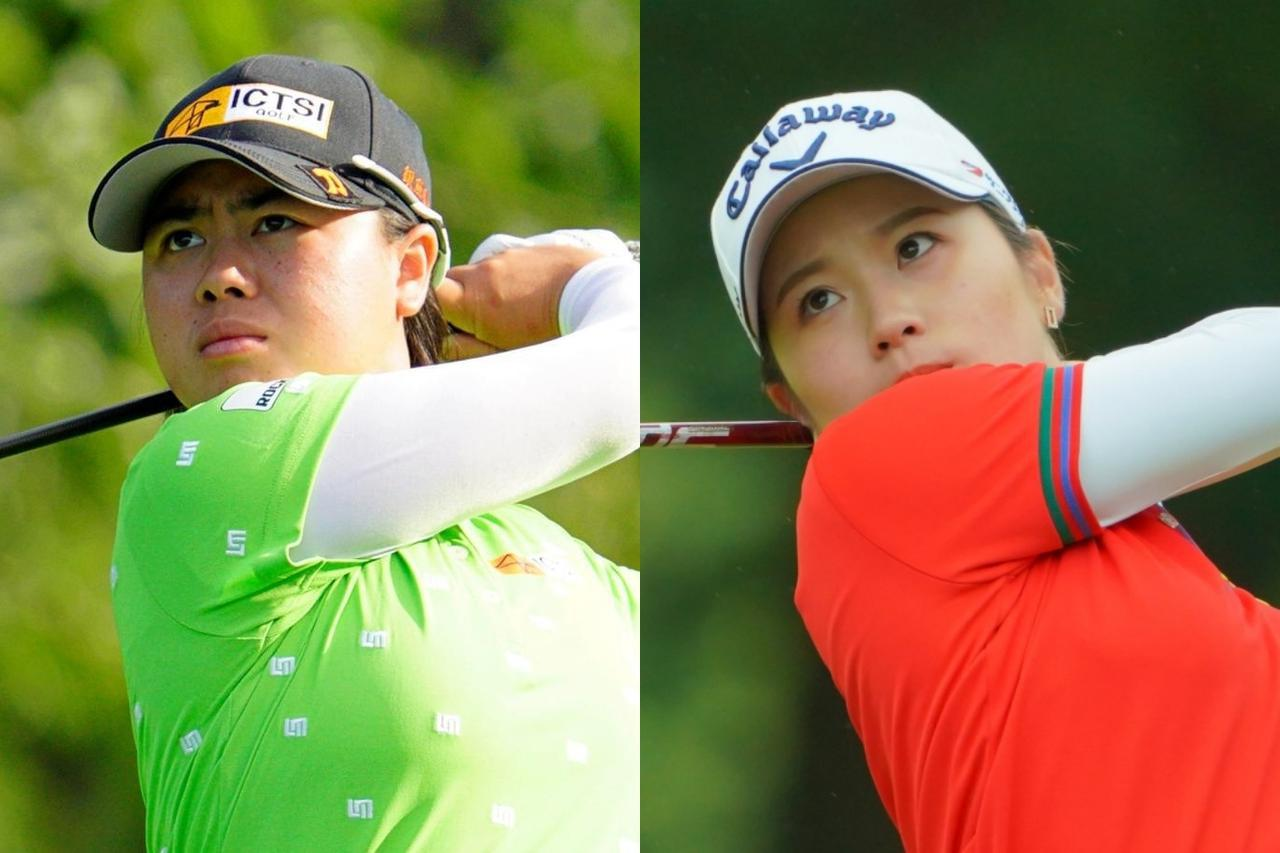 画像: 笹生優花(左、代表撮影/上山敬太)と西村優菜(右、代表撮影/中野義昌)。両名とも2019年度のプロテストに合格し、ルーキーイヤーにして躍進を遂げている