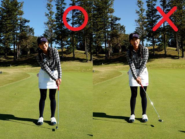 画像: 画像A 左は腕と左手首がフラットになりフェースの向き