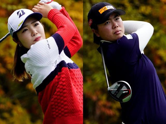 画像: 今シーズンの女子ツアーで大活躍をしている古江彩佳(左)と笹生優花(右)(写真は2020年の大王製紙エリエールレディス 撮影/岡沢裕行)