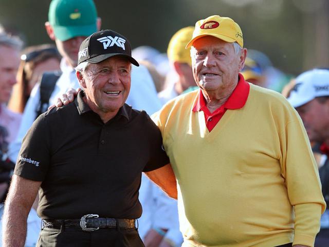 画像: ゲーリー・プレーヤー(左)とジャック・ニクラス(右)。両者とも華々しい戦績を残し、現在はマスターズ始球式も務めるレジェンドゴルファーたちだ(写真は2019年のマスターズ 撮影/姉崎正)