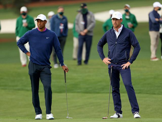 画像: 今週末の「マヤコバゴルフクラシック」がプロデビュー戦となるアンディ・オグルトゥリー。マスターズでは夢だったタイガー・ウッズ(左)とのプレーも実現した(写真はGetty Images)