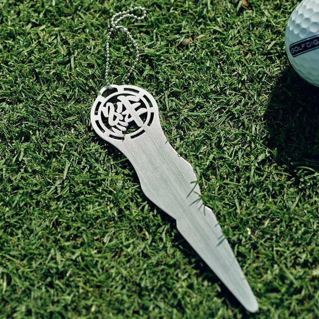 画像: 【週ゴル別注】ステンレス グリーンフォーク&ゴルフマーカー&ネームプレート-ゴルフダイジェスト公式通販サイト「ゴルフポケット」