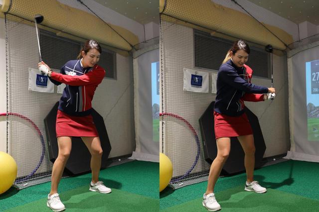 画像: 体を止めるスウィングは、体の軸を中心にヘッドが走るぶん、大きく動かすよりも効率よく遠心力が使えるという