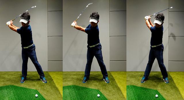 画像: 左から右軸タイプはオープンスタンス、センター軸はスクェア、左軸タイプはクローズスタンスがマッチすることが多い
