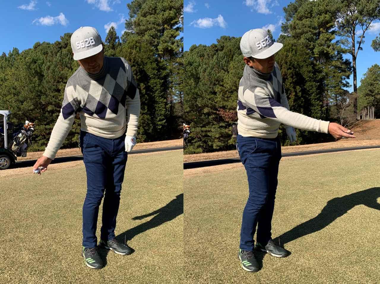 画像: 下手投げでボールを投げるようなイメージで右手首を完全にリリースする