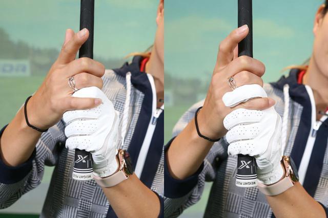 画像: 左がオーバーラッピング、右がインターロッキング。高島曰く「個人の好みの範疇」なので、それぞれ試して握りやすいほうを選ぼう