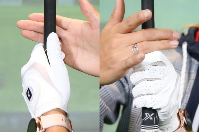 画像: まずは中指・薬指から握っていく。左手人差し指と右手薬指はぴったりくっつけよう