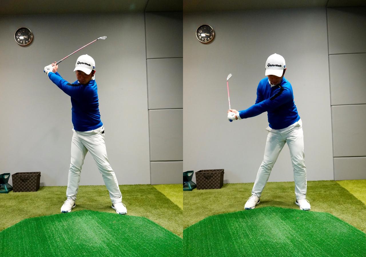 画像: センター軸タイプはその場で回転する、もしくは左に踏み込み少し移動する力を入れてから回転するように圧力をかける