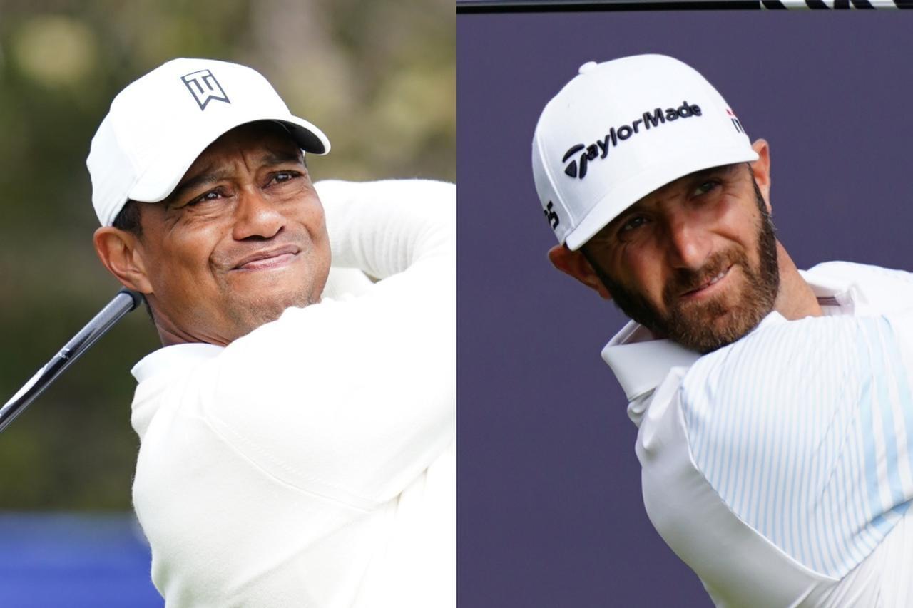 画像: タイガー・ウッズ(左)、ダスティン・ジョンソン(右)らマスターズ優勝経験者は生涯出場権を保証されている
