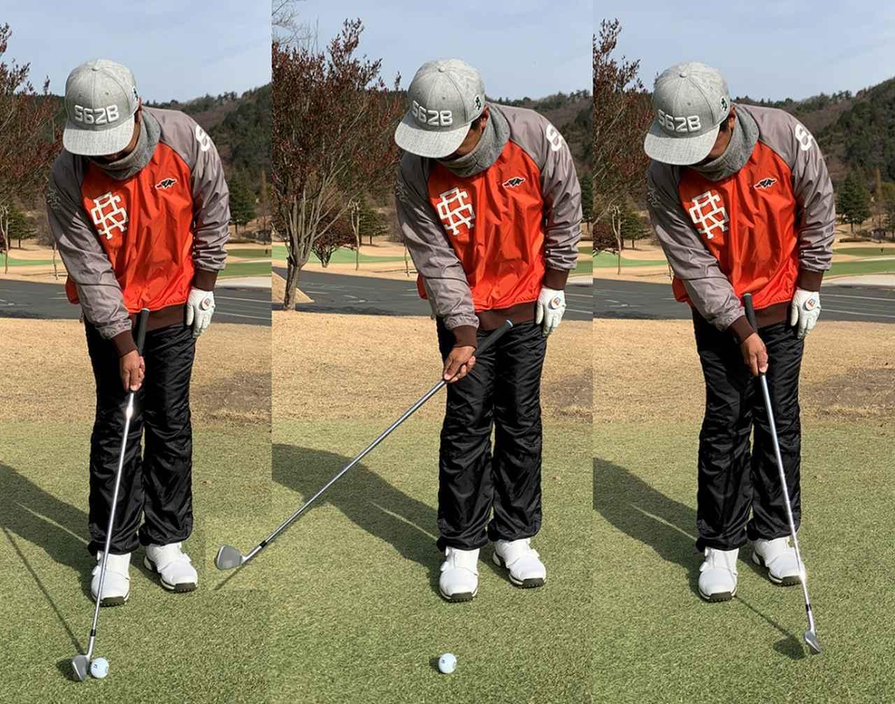 画像: 右手を使ってボールをコツっと打つイメージ。手首を支点にして打ちます
