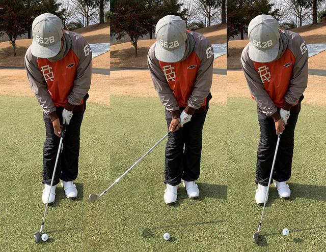 画像: 距離感を出すためには多少の練習が必要ですが、手首の動きだけで打つのでチャックリやトップのミスは出にくい