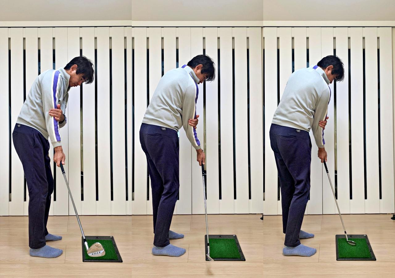画像: 画像C 切り返しでクラブが下り、体のターンによってインパクトを迎えるイメージだ