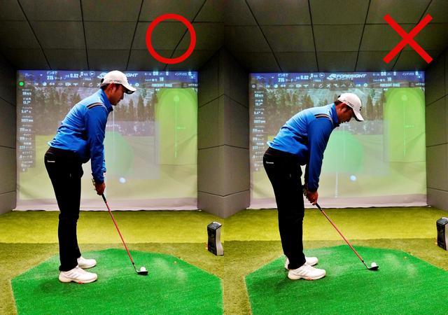 画像: 画像C 左手の親指側に手首を曲げクラブを縦に使うコックはできるだけ使わない。ハンドアップで構えると手首のコックを少なくできる