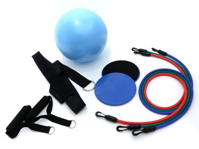 画像: 左から、「ハンドル「ベルト」「ボール」「スライドディスク」「チューブ」