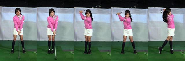 画像: 画像A:小澤オススメの練習ドリル。常に左足がクラブよりも先に動くので、下半身主導のスウィングが身につき悪い手打ちの予防にもなる