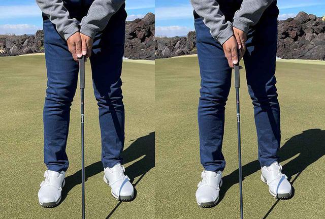 画像: 写真左が両手のひらがピタリと合う、完全合掌タイプ。写真右がほんの少しだけ右手が下になる順手合掌タイプ