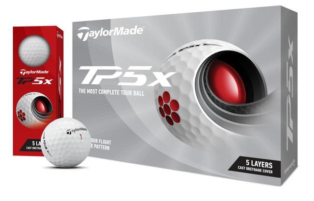 画像: テーラーメイドのTP5xボールの2021年モデル(発売日は2021年4月9日予定)
