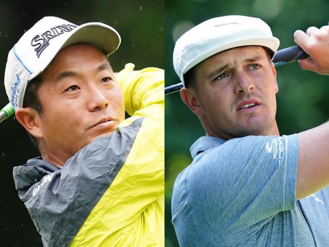 画像: 「WGC-ワークデイ選手権」の最終日に同組でプレーした稲森佑貴(左)とブライソン・デシャンボー(右)