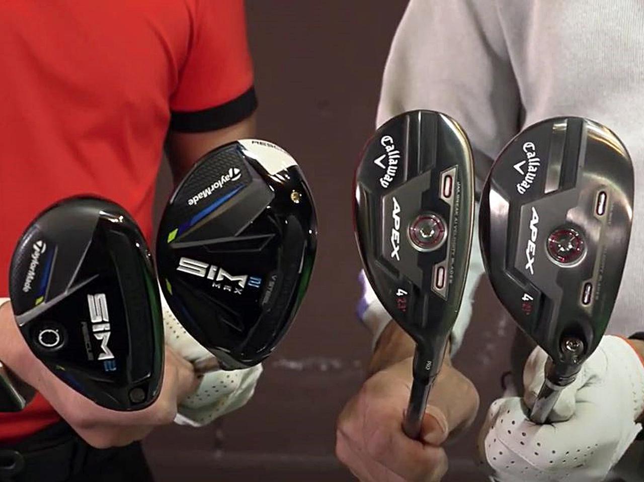 画像: テーラメイド「SIM2」、キャロウェイ「APEX」シリーズのユーティリティ計4モデルを比較試打!