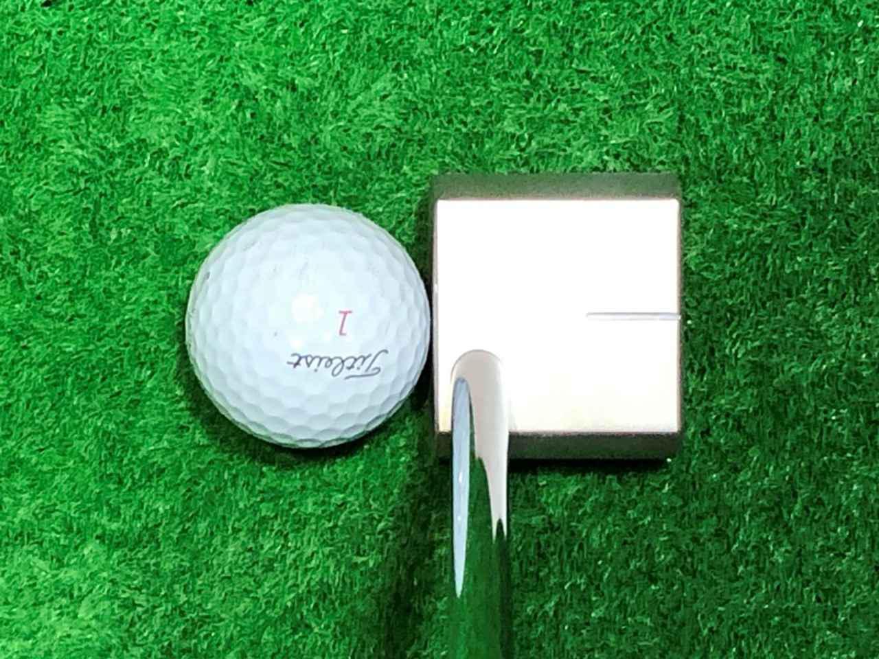 画像: OH1パター。フェース面の長さがゴルフボールの直径とほぼ同等になるよう設計されている