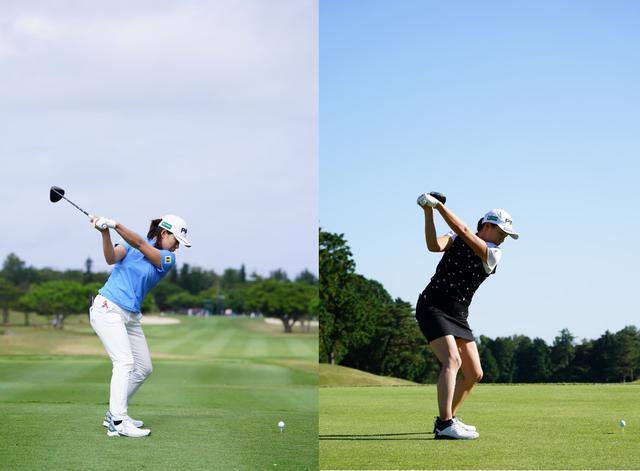 画像: 画像A 左はトップをフラットした2021年のダイキンオーキッドレディス、右は2020年の三菱電機レディス(写真/姉崎正)